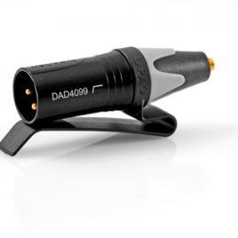 Adapter MicroDot XLR csatlakozó ővcsipesszal és felüláteresztő szűrővel