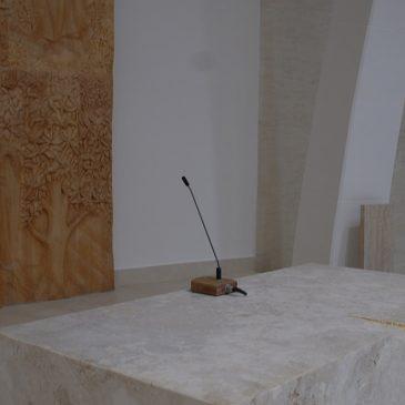 A DPA mikrofonok biztosítják a beszédérthetőséget a Natuzza Evolo szentélyben